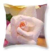 Pastel Petals Throw Pillow