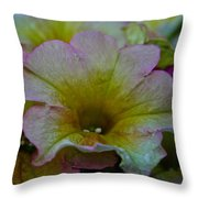 Pastel Petunias Throw Pillow