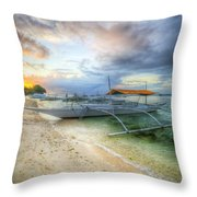 Pastel Sunrise Throw Pillow