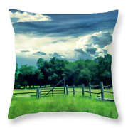 Pastoral Greenery Throw Pillow by Lourry Legarde
