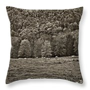 Pastoral Sepia Throw Pillow