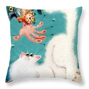 Pat That Cat Throw Pillow