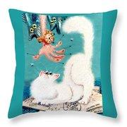 Pat That Cat Throw Pillow