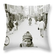 Patan In Kathmandu Throw Pillow