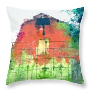 Patched Up  Art Throw Pillow