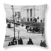 Patent Office During Presidential Inauguration - Washington Dc - C 1889 Throw Pillow