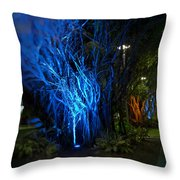 Path Of The Living Trees Throw Pillow