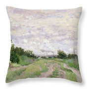 Path Through The Vines At Argenteuil Throw Pillow