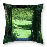 Path To The Green Throw Pillow