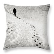 Path To The Summit Throw Pillow by Konstantin Dikovsky