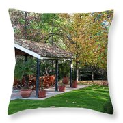 Patio Dining Madrid Throw Pillow