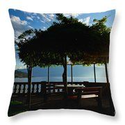 Patio In Backlight Throw Pillow