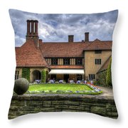 Patio Restaurant At Cecilienhof Palace Throw Pillow