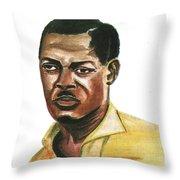 Patrice Lumumba Throw Pillow