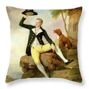 Patrick Heatly Throw Pillow by Johann Zoffany