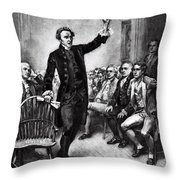 Patrick Henry, American Patriot Throw Pillow