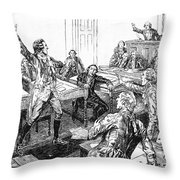Patrick Henry, Virginia Legislature Throw Pillow by Photo Researchers