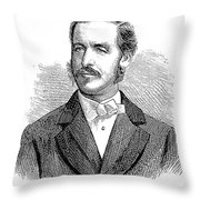 Patrick Sarsfield Gilmore (1829-1892). American (irish-born) Bandmaster And Composer. Wood Engraving, American, 1869 Throw Pillow