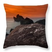 Patrick's Point Dusk Panorama Throw Pillow by Greg Nyquist