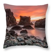 Patrick's Point Sunset Throw Pillow