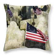Patriot Cemetery Throw Pillow