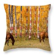 Patriotic Autumn Throw Pillow