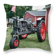Patriotic Farmall Throw Pillow