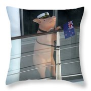Patriotic Pig Throw Pillow