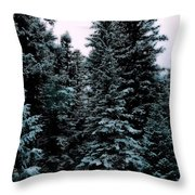 Pat's Winter Trees 1d Throw Pillow