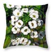 Pattern In Green And White Throw Pillow