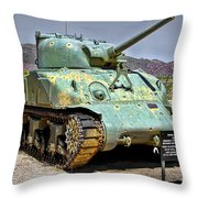 Patton M4 Sherman Throw Pillow