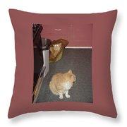 Patty Vs Vengeful Sack God  Throw Pillow