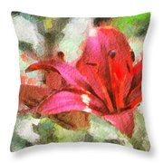Patty's Perfect Lily Throw Pillow