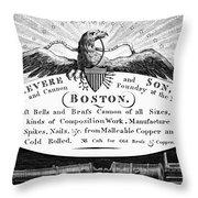 Paul Revere: Trade Card Throw Pillow