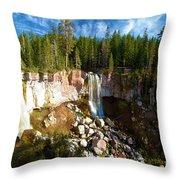 Paulina Falls At Newberry Throw Pillow