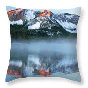 Paulina Lake Reflections Throw Pillow