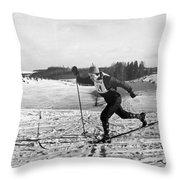 Pavel Kolchin (b. 1930) Throw Pillow