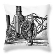 Paving Machine, 1879 Throw Pillow