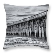 Pawleys Island Pier Throw Pillow
