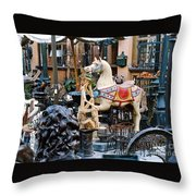 Pawn Shop In San Miguel Mexico 1991 Throw Pillow