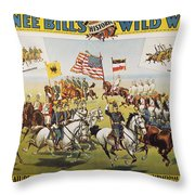 Pawnee Bill Poster, 1895 Throw Pillow
