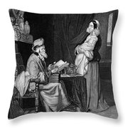 Pawning, 19th Century Throw Pillow
