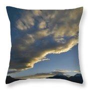 Payachatas Mountains. Republic Of Bolivia.  Throw Pillow