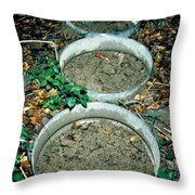 Pcb Eating Microbes Throw Pillow