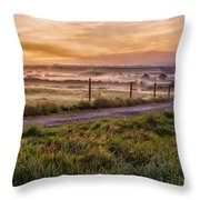 peace and quiet in the English coutryside Throw Pillow