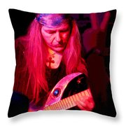 Peace And Uli Roth Throw Pillow