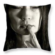 Peace Throw Pillow by Joana Kruse
