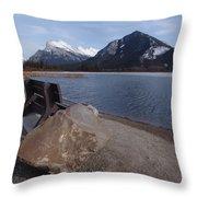 Vermillion Lakeside Throw Pillow