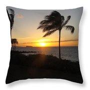 Peace On Maui Throw Pillow