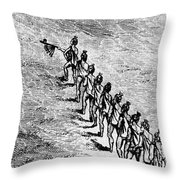 Peace Pipe Ceremony, 1718 Throw Pillow